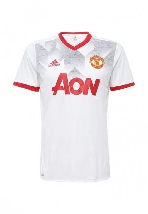 Футболка спортивная adidas MUFC H PRESHI. Цвет: белый