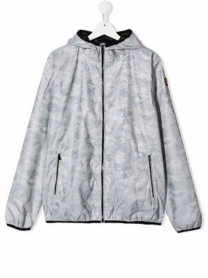 Куртка с капюшоном и камуфляжным принтом Ciesse Piumini Junior. Цвет: серый