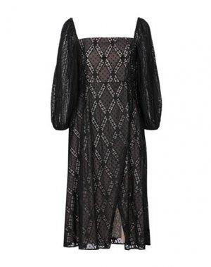 Платье миди ALICE + OLIVIA. Цвет: черный