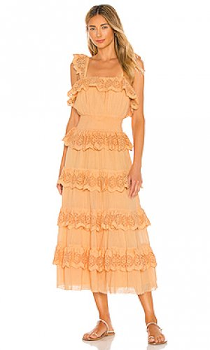 Платье julian Tularosa. Цвет: оранжевый