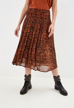 Юбка Calvin Klein. Цвет: коричневый