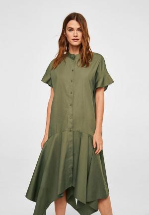 Платье Mango - QUEENS-A. Цвет: хаки