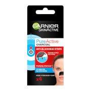 Очищающие полоски для носа Pure Active Charcoal Anti-Blackhead Nose Strips (4 шт.) Garnier
