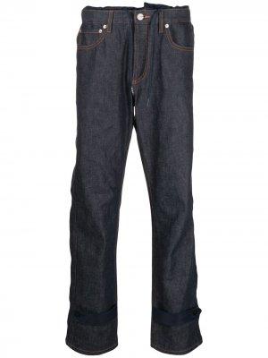 Прямые джинсы с заниженной талией A.P.C.. Цвет: синий
