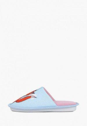 Тапочки T.Taccardi. Цвет: голубой