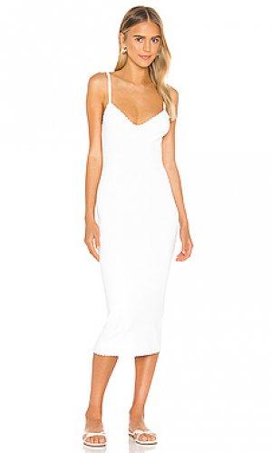 Платье миди Autumn Cashmere. Цвет: белый