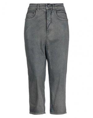 Джинсовые брюки-капри DRKSHDW by RICK OWENS. Цвет: синий