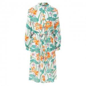 Шелковое платье x Paulas Ibiza Loewe. Цвет: разноцветный