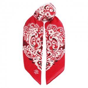Хлопковый платок Polo Ralph Lauren. Цвет: красный