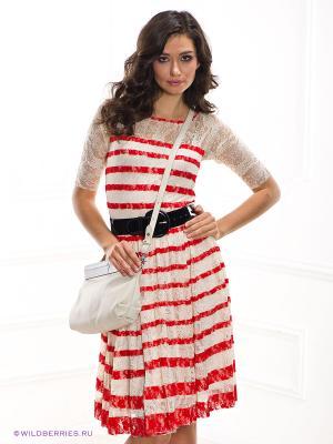 Платье Etincelle. Цвет: белый (осн.), красный