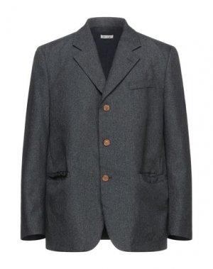 Пиджак MARNI. Цвет: стальной серый