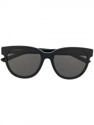 Soft-round frame sunglasses Balenciaga Eyewear. Цвет: черный