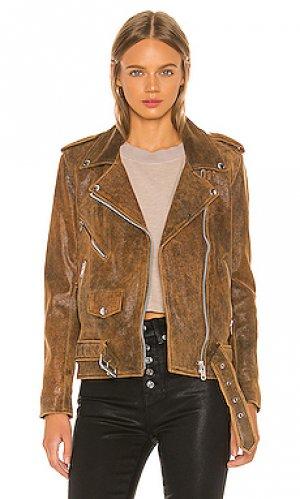 Косуха easy rider Understated Leather. Цвет: коричневый
