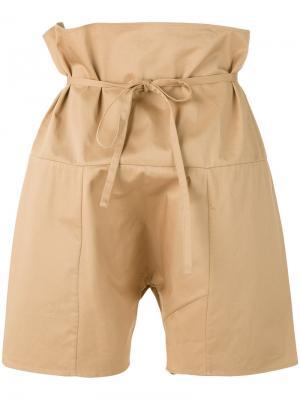 Drawstring tie shorts Bless. Цвет: телесный