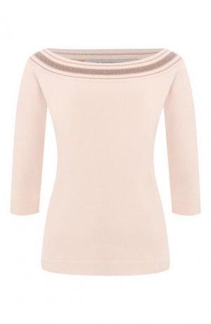 Пуловер из вискозы D.Exterior. Цвет: бежевый