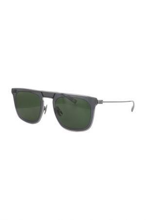 Очки солнцезащитные Salvatore Ferragamo. Цвет: серый, зеленый