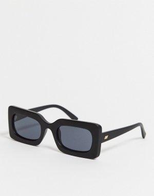 Квадратные солнцезащитные очки -Черный Le Specs