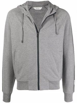 Logo tape zip-up hoodie Z Zegna. Цвет: серый