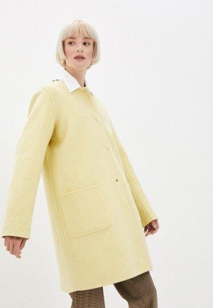 Пальто Gerard Darel. Цвет: желтый