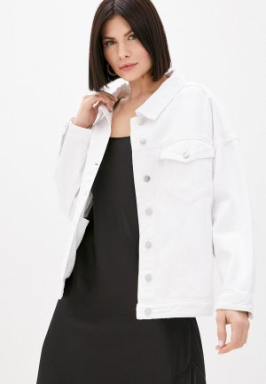 Куртка джинсовая Silvian Heach. Цвет: белый