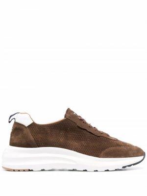 Кроссовки на шнуровке Fratelli Rossetti. Цвет: коричневый