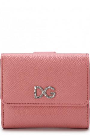 Кожаный кошелек с тиснением Dauphine Dolce & Gabbana. Цвет: розовый
