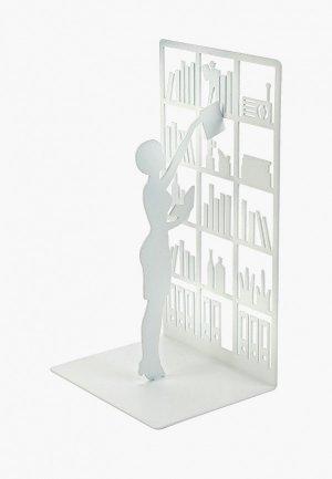 Держатель для книг Balvi The Library. Цвет: белый