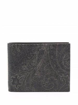 Бумажник с принтом пейсли ETRO. Цвет: черный