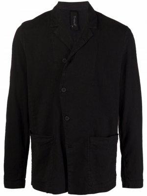 Однобортный пиджак с заостренными лацканами Transit. Цвет: черный