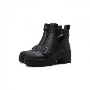 Кожаные ботинки Corey MICHAEL Kors. Цвет: чёрный