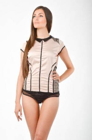 Блузка-боди AREFEVA. Цвет: розовый