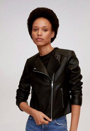 Куртка кожаная Mango - MARCMOTO. Цвет: черный