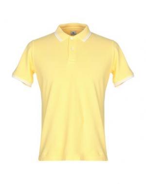 Поло COLOMBO. Цвет: желтый