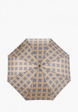 Зонт складной Zemsa. Цвет: бежевый