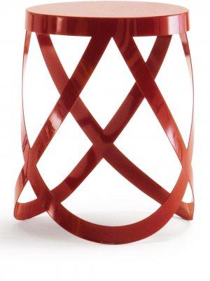 Низкий табурет Ribbon Cappellini. Цвет: красный