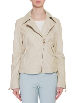Кожаная куртка ETRO. Цвет: бежевый