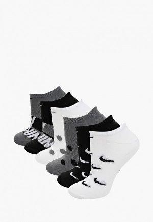 Комплект Nike W EVERYDAY LTWT NO SHOW - 6PR. Цвет: разноцветный