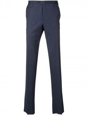 Классические брюки в клетку Corneliani. Цвет: синий