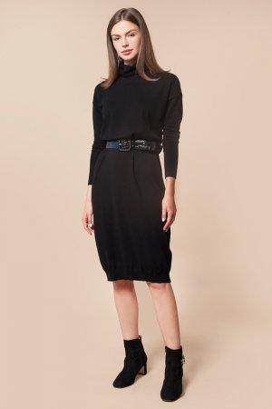 Платье вязаное VILATTE. Цвет: черный