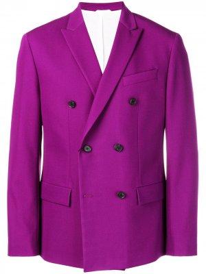 Двубортный блейзер Calvin Klein. Цвет: фиолетовый