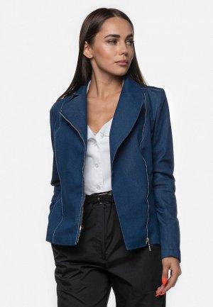 Куртка джинсовая Zlatoni. Цвет: синий