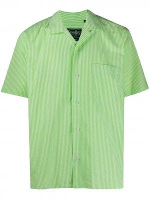 Полосатая рубашка Gitman Vintage. Цвет: зеленый