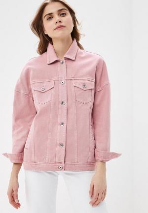 Куртка джинсовая Vero Moda. Цвет: розовый