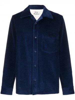 Вельветовая рубашка Acne Studios. Цвет: синий
