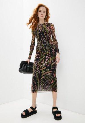 Платье Fuzzi. Цвет: черный
