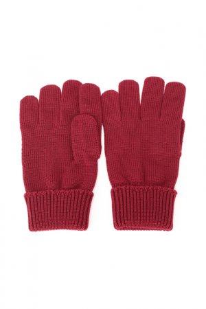 Перчатки Lacoste. Цвет: бордо