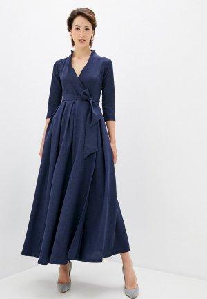 Платье Maurini. Цвет: синий