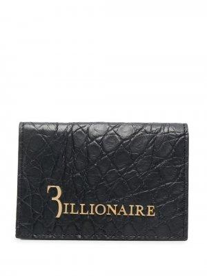 Бумажник с тиснением под крокодила Billionaire. Цвет: черный