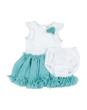 Платье LILI GAUFRETTE. Цвет: бирюзовый