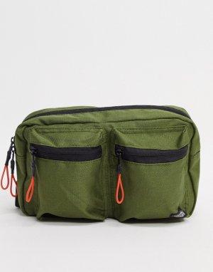 Сумка-кошелек на пояс цвета хаки Fort Spring-Зеленый Dickies